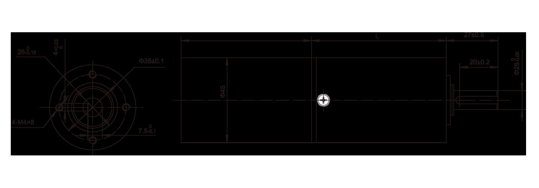 DC-Motor_45JXF4567_Outline绘图